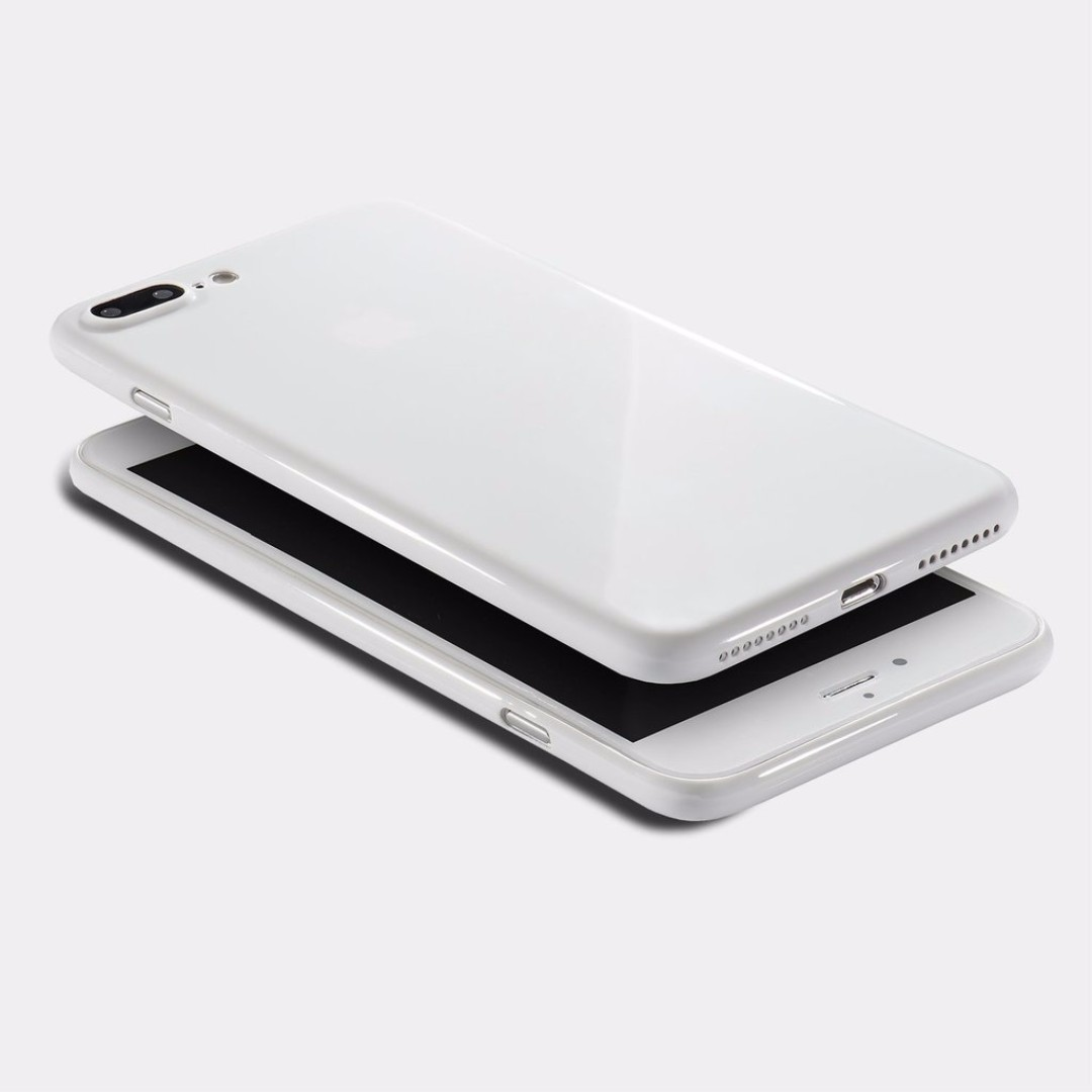 Totallee IPhone 8 Plus Case Jet White Black Mobiles Tablets Mobile Tablet Accessories On Carousell