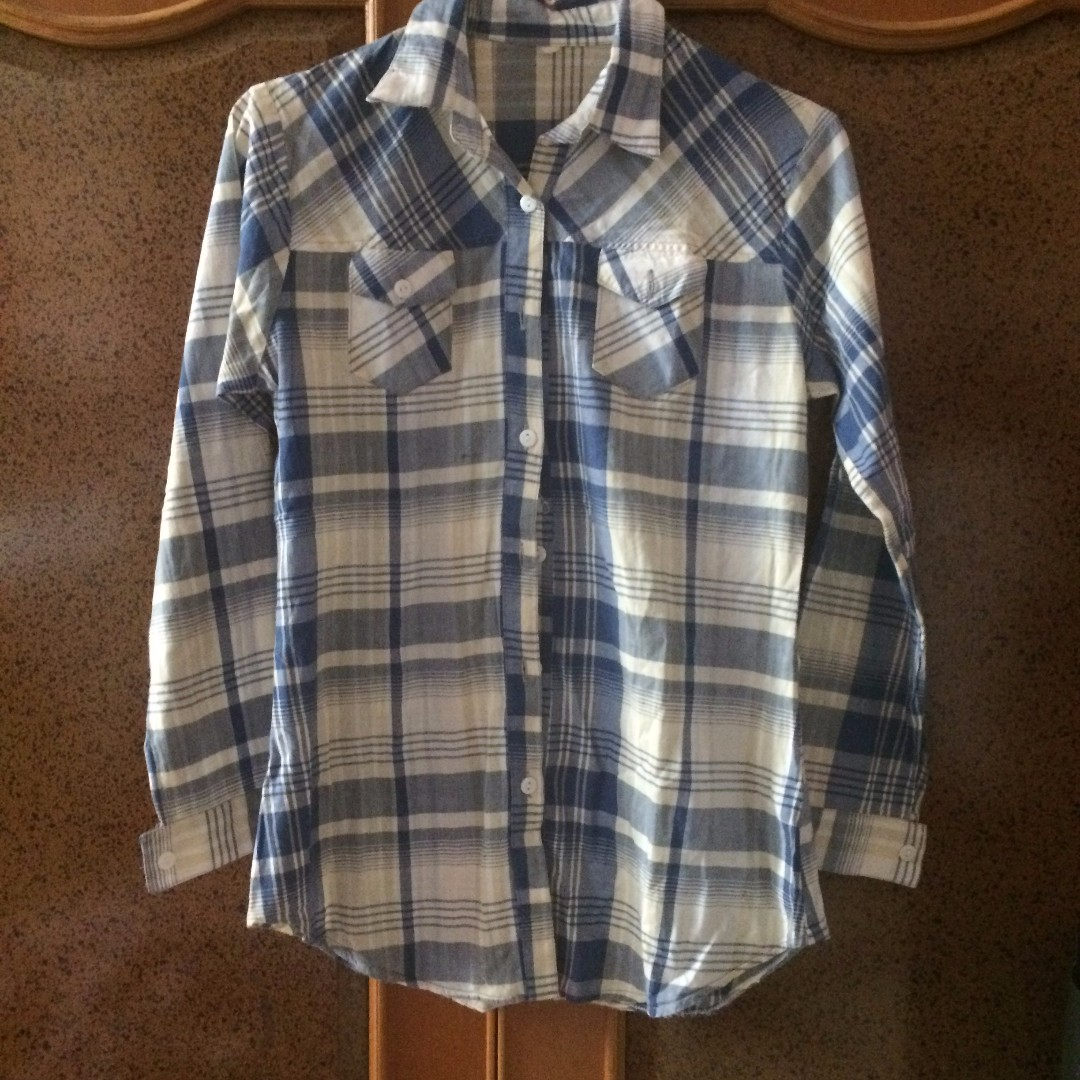 UNBRANDED Blue Checkered Shirt