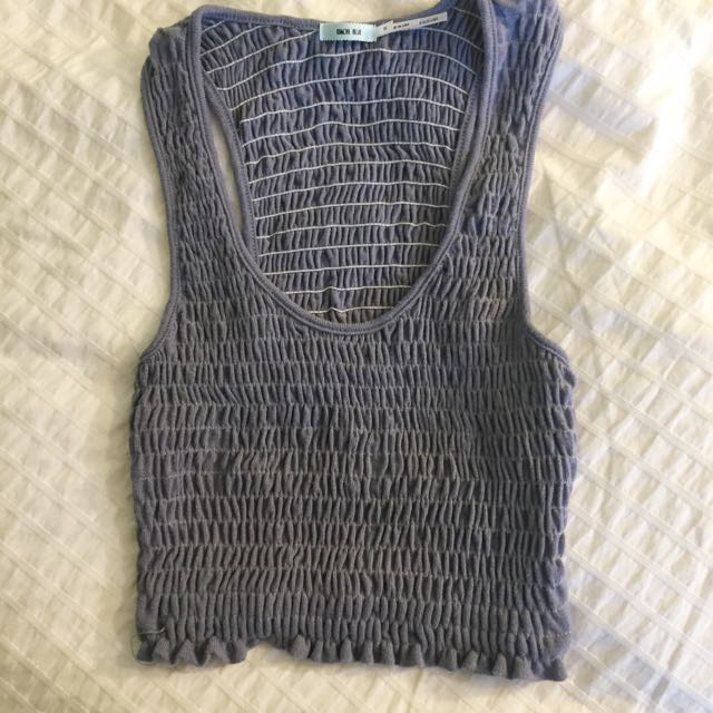 UO Kimchy Blue scrunched Tank Top