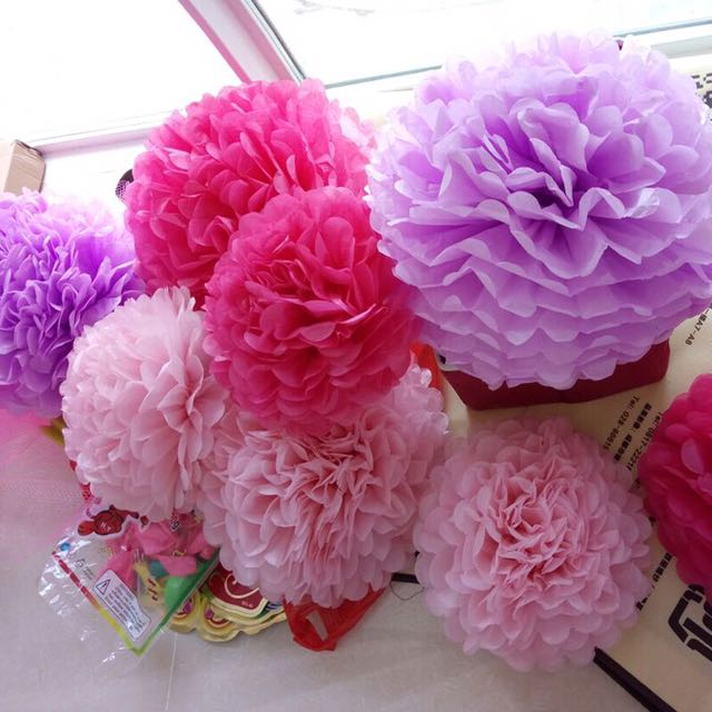 Paper Balls Decoration Custom Wedding Birthday Decoration Diy Flower Paper Balls Design & Craft Decorating Design
