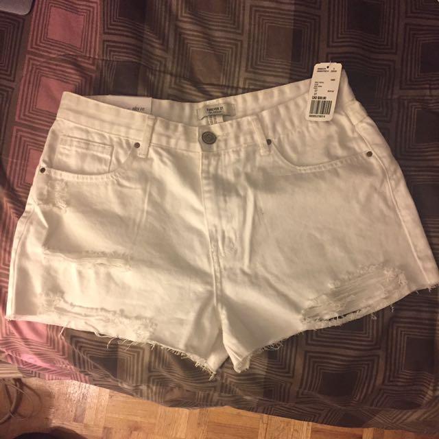 White Forever 21 shorts BRAND NEW