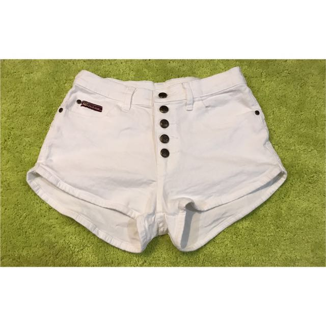 White High-Waist Short