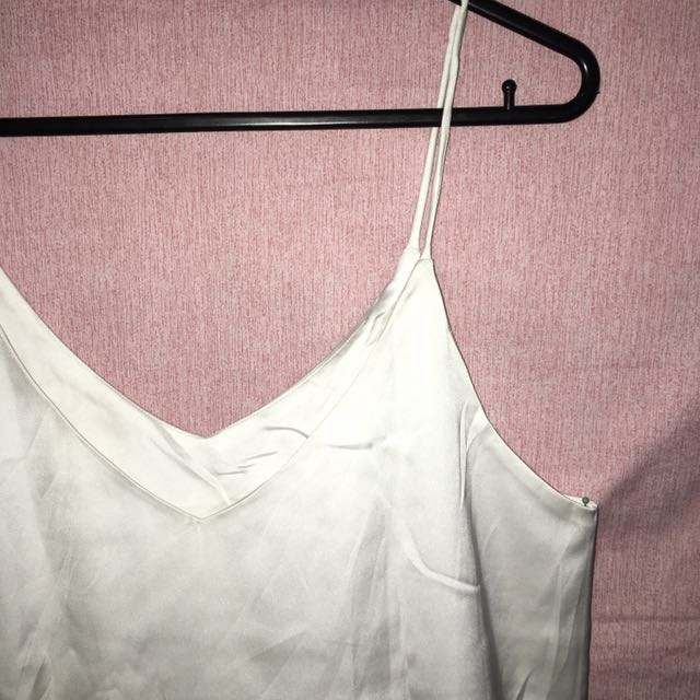 White Slik Cami top (M)