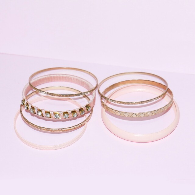 Woman korean bracelet pink