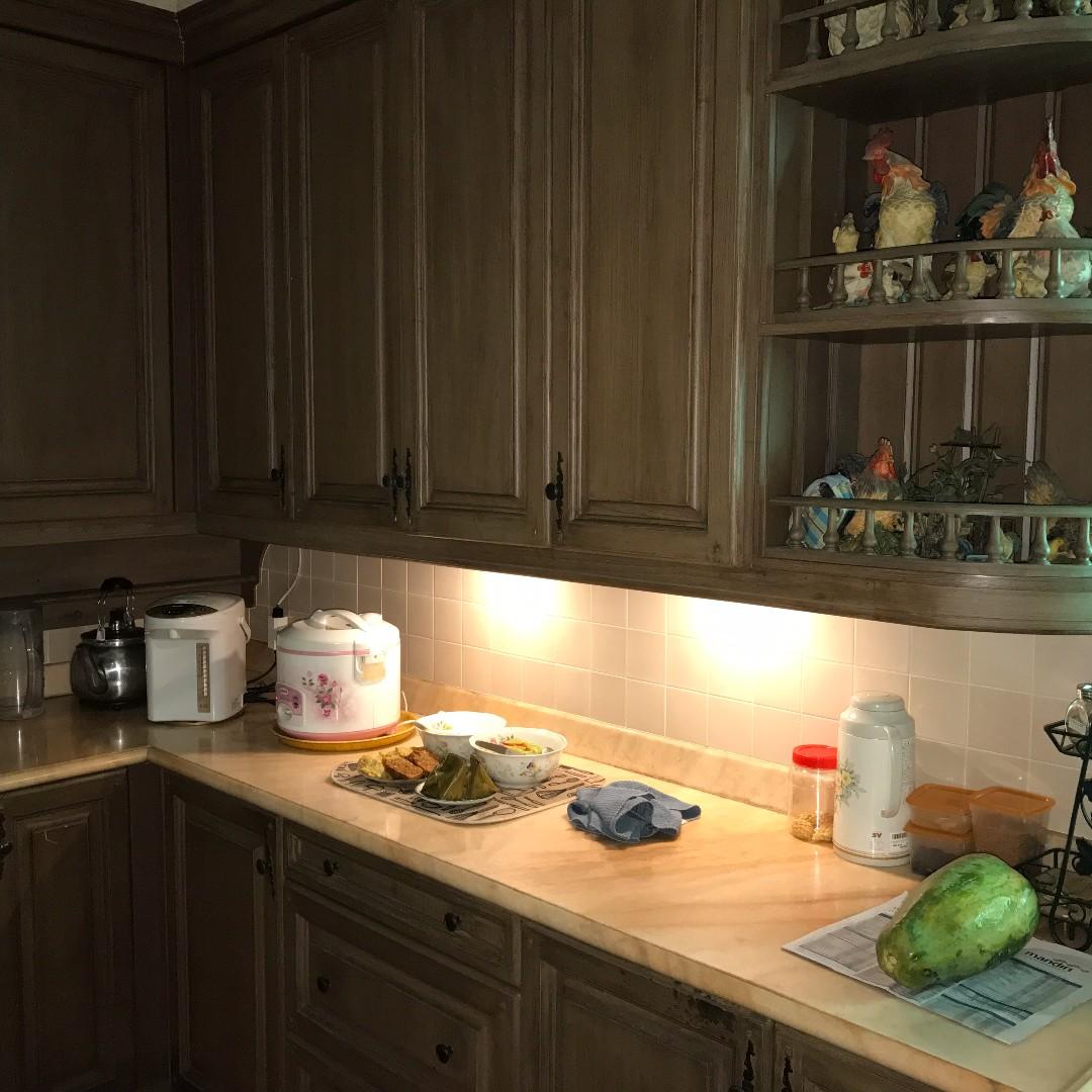 Wooden kitchen kitchen appliances on carousell