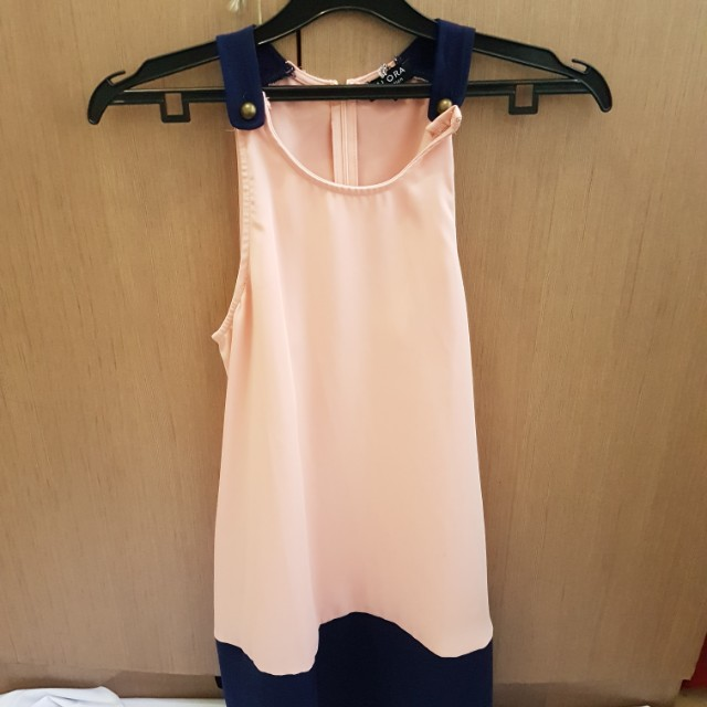 Zalora dress pink flare