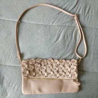 Pink Clutch/ Shoulder Bag
