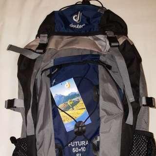 Deuter bag beg 50+10 60 Hiking backpack back pack posture support