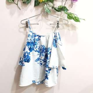 Repriced Blue Floral Top