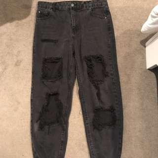 Glassons black boyfriend jeans - size 14