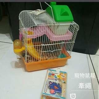天空花園滑梯寵物鼠籠+牽繩