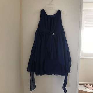 Girls navy dress bridesmaid wedding 2/4 years