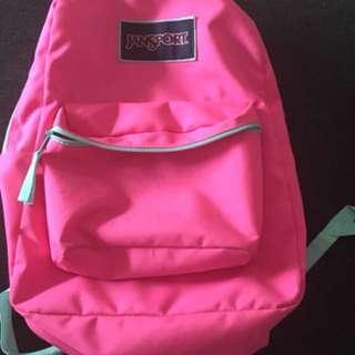 Pink jansport bag