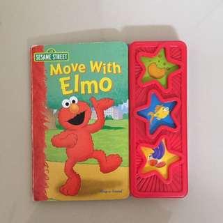 Buku Elmo Dengan Tombol Interaksi Bunyi