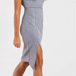 Grey soft material dress