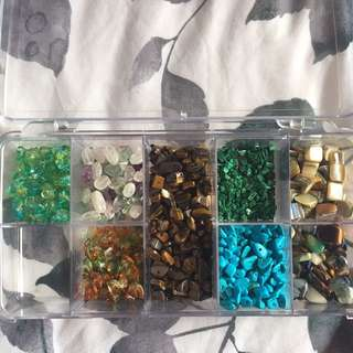 Assorted glass* stones (beads)