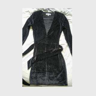 I.AM.GIA I am gia Velvet Low Plunge Dress