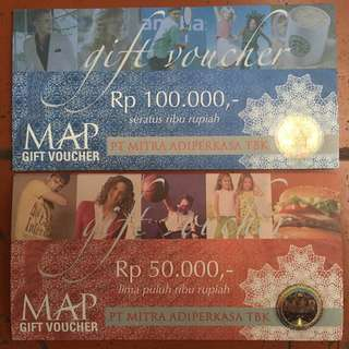 Voucher MAP 100 ribu