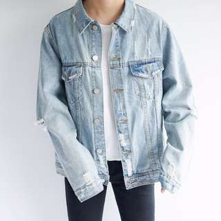 Pre Order Ripped Denim Jacket