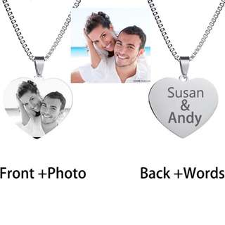 Personalized Photo and Name necklace