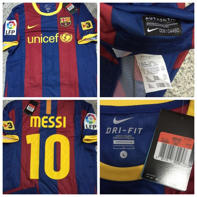 88c9a73ea60b 100% Authentic Nike Barcelona Player Issue Fan Version Jersey Messi ...