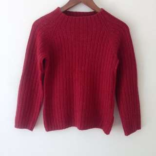 Uniqlo Japan Red High Neck Jumper