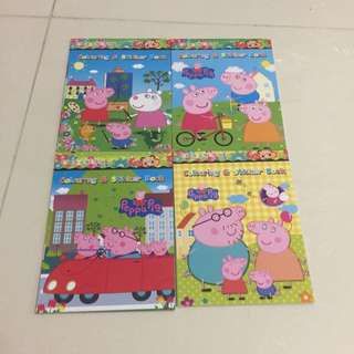 Brand New Disney Peppa Pigs Mini Colouring / Coloring Books