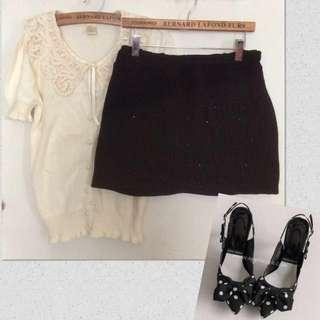 🎈造型亮片拼接短裙