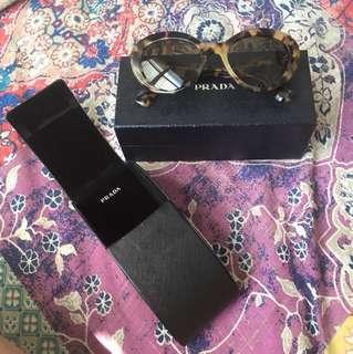 Prada 15qs Portrait Oval Sunglasses