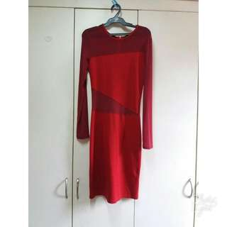 Apartment 8 Red See Through Dress