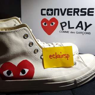💙 REDUCED PRICES Comme des Garçons X Converse edition High-top off white