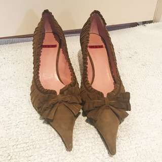 Cute Pointy Bow Pumps