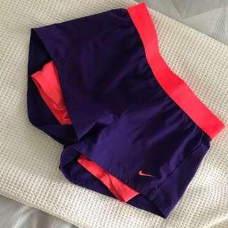 Nike shorts, fluro