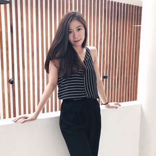 top stripe black