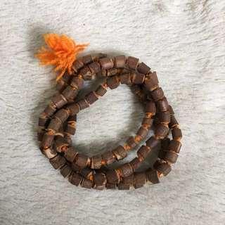 Handmade Tulsi wood Holy basil mala 108