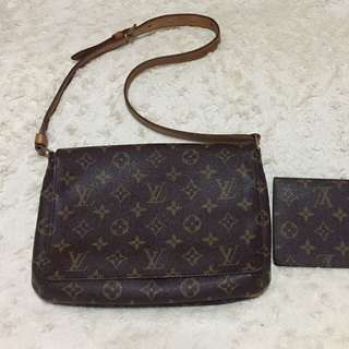 Authentic louis Vuitton Set bag and wallet