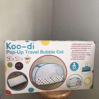 Koo-di pop up travel buble cot