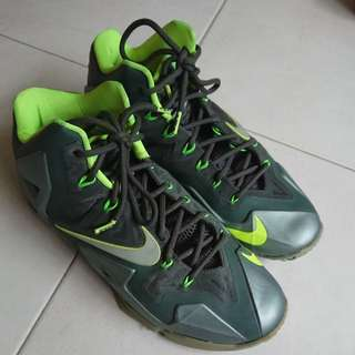 Lebron 11 grey/green