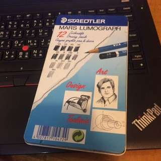 STAEDTLER 施德樓 Mars Lumograph 100頂級藍桿繪圖鉛筆 12支鐵盒鉛筆組