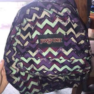 Purple JanSport bag