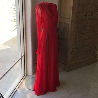 Authentic Camilla And Marc Red Silk Dress Gown