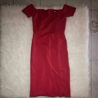 (NEVER WEAR) mercy dress. Sabrina scuba red party dress