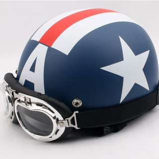 Captain America Helmet Brand New for escooter skateboard and Bicycle riders Dualtron 2