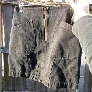 Black Minkpink Denim Skirt
