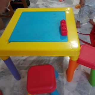 Mega block wt table chair