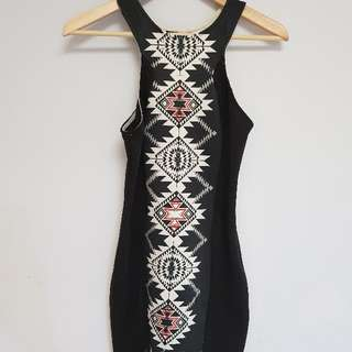 CHICABOOTI geometric dress size S