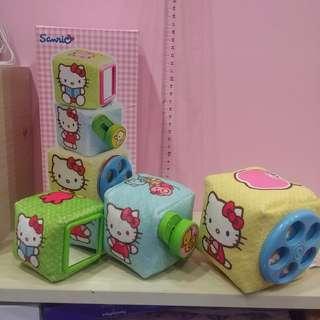 🚚 正版三麗鷗 Hello kitty系列 嬰幼兒益智成長玩具 益智方塊