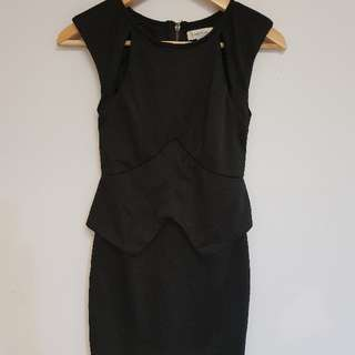 WHITE CLOSET black dress size 8
