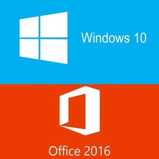Windows 10 + Office 2016 Pro Plus (Genuine Activation Keys)