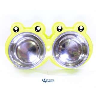 🚚 犬貓用 青蛙雙食盆